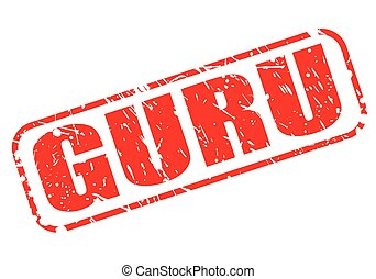 GURU red stamp text on white