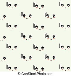 Sad faces pattern