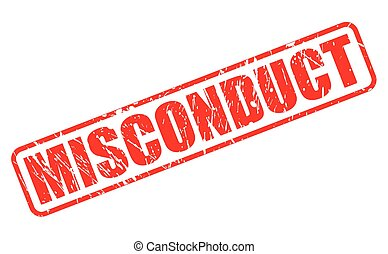 MISCONDUCT red stamp text