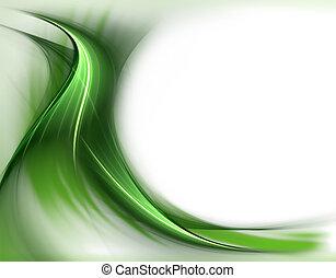 Elegancki, falisty, zielony, wiosna, tło