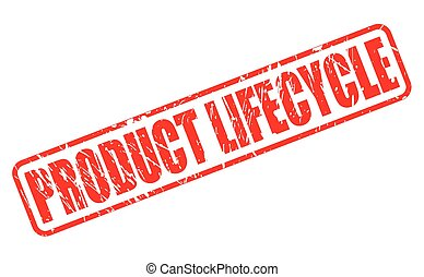 PRODUCT LIFECYCLE red stamp text on white