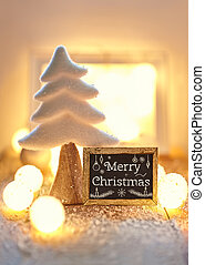 Christmas greeting card with text Merry Christmas