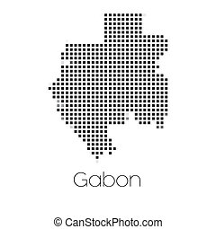 Map of the country of Gabon - A Map of the country of Gabon