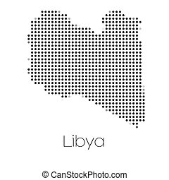 Map of the country of Libya - A Map of the country of Libya