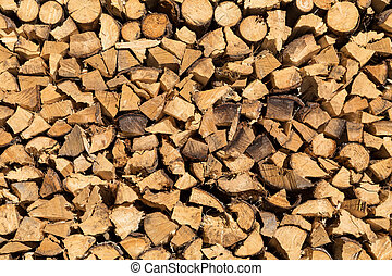 Stack of Chopped Firewood in Austria