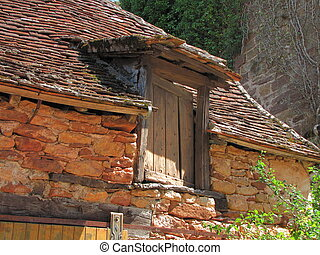 Window, roof, - Valley of Dordogne ; Lot, Perigord, Quercy,...