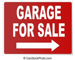 garage for sale sign