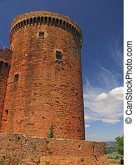 Tower, Castelnau Castle - Valley of Dordogne ; Lot,...