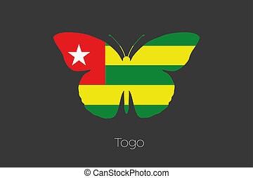 Butterfly with the flag of Togo - A Butterfly with the flag...