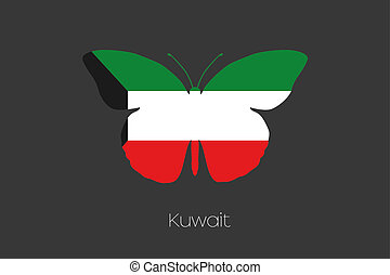 Butterfly with the flag of Kuwait - A Butterfly with the...