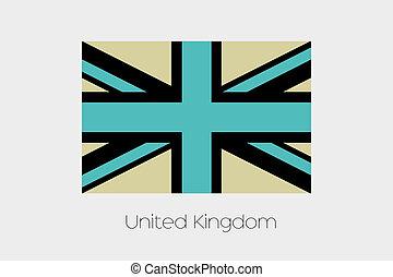 Inverted Flag of  United Kingdom