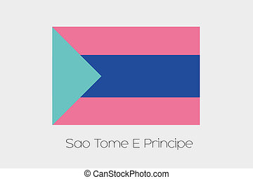 Inverted Flag of Sao Tome E Principe - An Inverted Flag of...