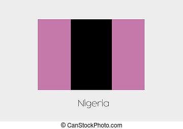 Inverted Flag of  Nigeria