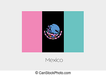 Inverted Flag of  Mexico