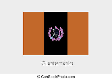 Inverted Flag of  Guatemala - An Inverted Flag of  Guatemala