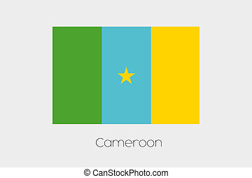 Inverted Flag of  Cameroon