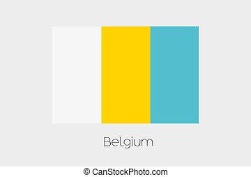 Inverted Flag of  Belgium