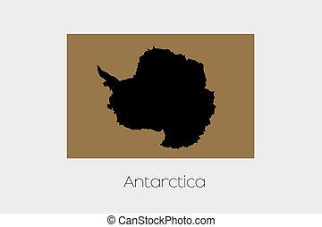 Inverted Flag of  Antartica - An Inverted Flag of  Antartica