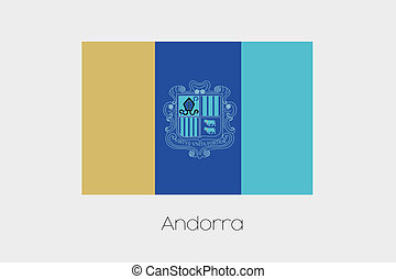 Inverted Flag of  Andorra - An Inverted Flag of  Andorra