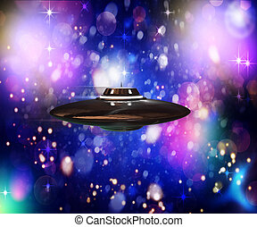 unidentified flying object flying in hyperspace