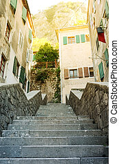 Kotor, - The old town of Kotor, Montenegro