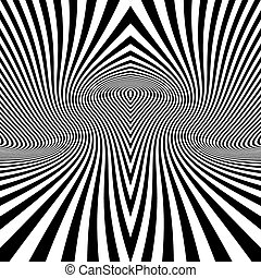Black and White Abstract Striped Background Optical Art 3d...