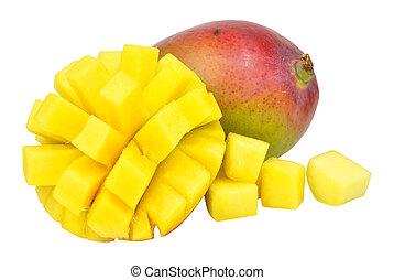Fresh Ripe Mangoes - Fresh ripe mangoes one cut in half and...