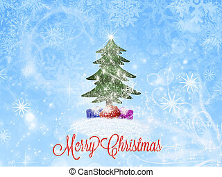 Merry Christmas greeting card Christmas background