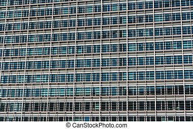 Glazing of the Berlaymont building, the seat of the European...