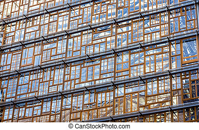 Glazing of the Europa building, the future seat of the...