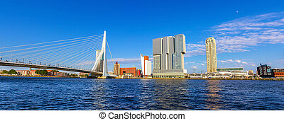The Nieuwe Maas river in Rotterdam - the Netherlands