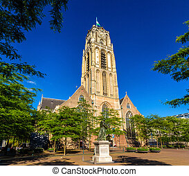 Grote of Sint-Laurenskerk, a church in Rotterdam, the...