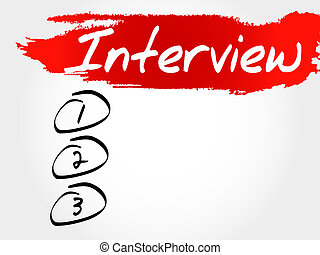 Interview blank list, business concept