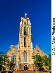 Grote of Sint-Laurenskerk, a church in Rotterdam,...