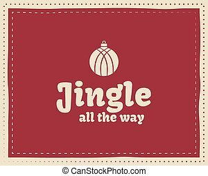 Christmas unique funny sign, quote background design for...