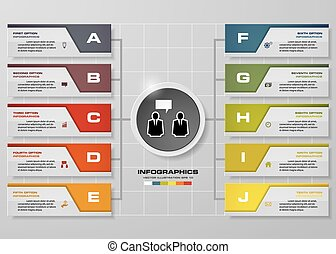 Abstract 10 steps infographics. - Abstract 10 steps...