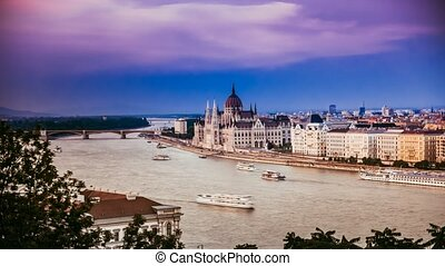 amazing view on Danube in Budapest - amazing panoramic view...