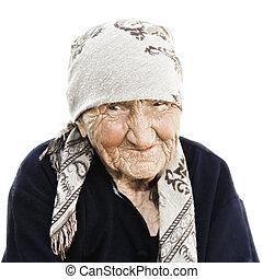Portrait of elderly woman - Portrait of elderly caucasian...