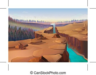 Canyon nature background - Canyon, nature background