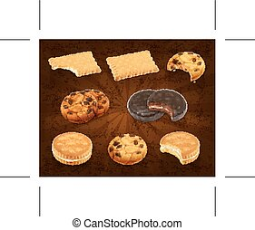 Cookies icons - Set with cookies icons