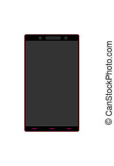 The Smart Phone With Blank Screen Isolated