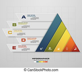 Abstract pyramid shape layout. - Abstract pyramid shape...