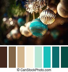 Christmas bauble palette