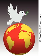 Global Warming - Global warming and bird in abstract vector