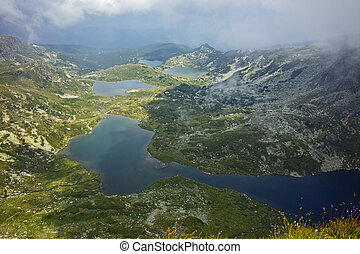 The Seven Rila Lakes, Bulgaria - approaching clouds over The...