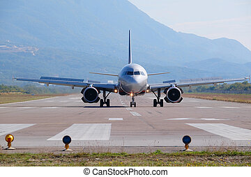 Tivat airport, Montenegro - Jet in the Tivat airport,...