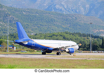 Tivat airport, Montenegro - Landscape with the view of Tivat...