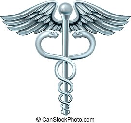 Caduceus Symbol - Caduceus medical symbol or symbol for...