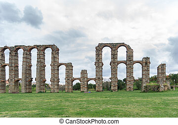 Aqueduct of the Miracles in Merida, Spain, UNESCO - Front...