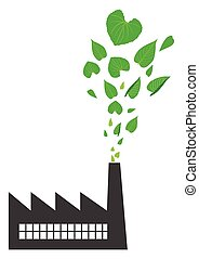 Clean Air - Conceptual illustration of a green energy...